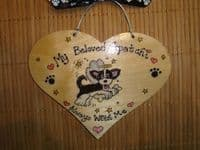 Puppy Dog Angel Memorial Heart Wooden Sign Any Breed/Colour Pet  Handmade To Order Personalised Plaque